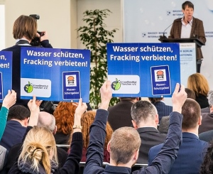 Protestaktion gegen Fracking