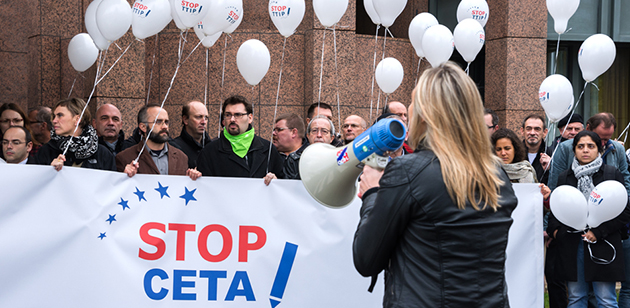 Demonstration gegen CETA