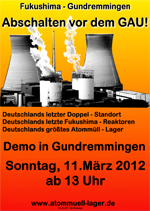 Plakat Demo Gundremmingen
