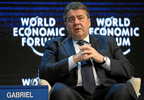 Minister Gabriel, Bild: World Economic Forum